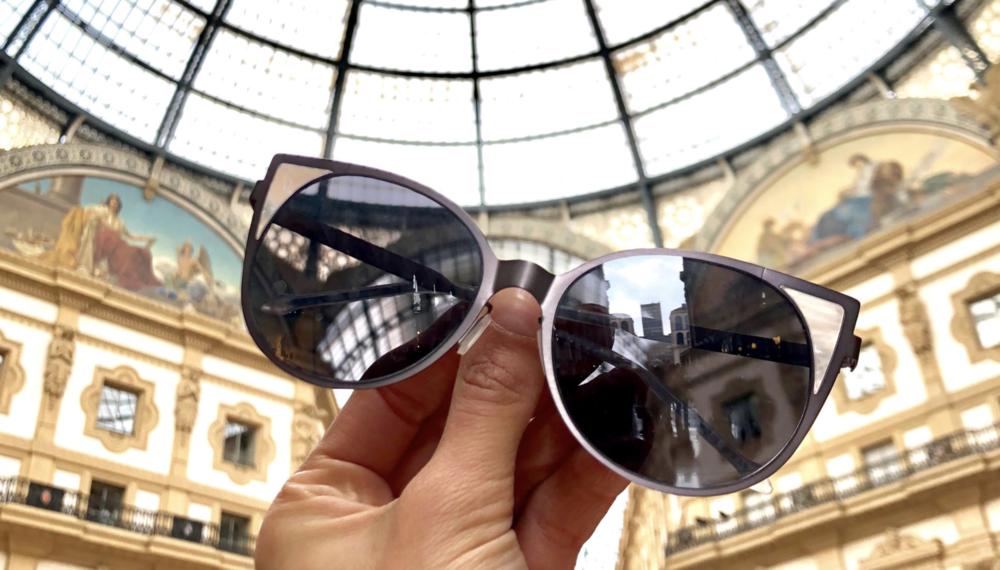 The Dunes frame  in Milan's uberfamous  Galleria Vittorio Emanuele II  .