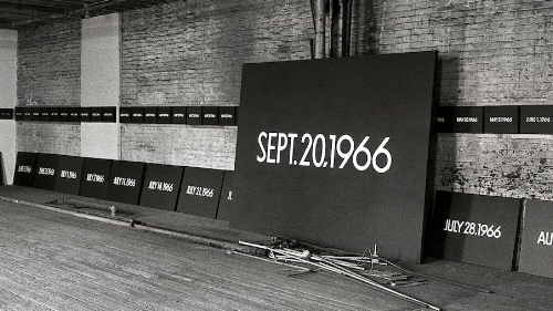 Taken from Guggenheim website (https://www.guggenheim.org/exhibition/on-kawara-silence
