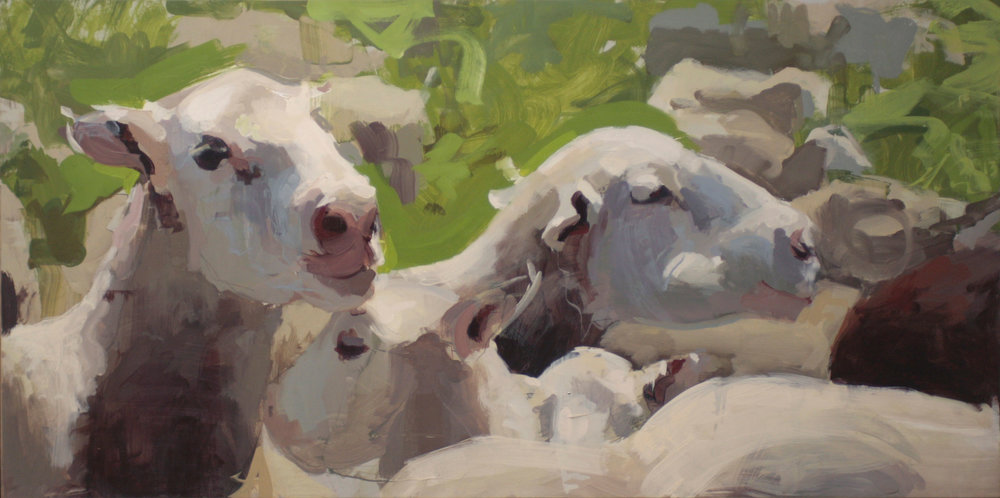 mark crenshaw painting sheep