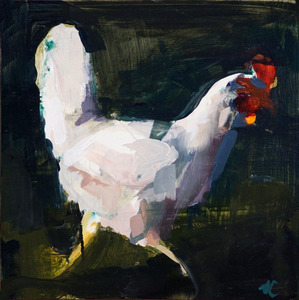 mark-crenshaw-17093-streaker,-white-running-chicken-dark-green-bkground.jpg