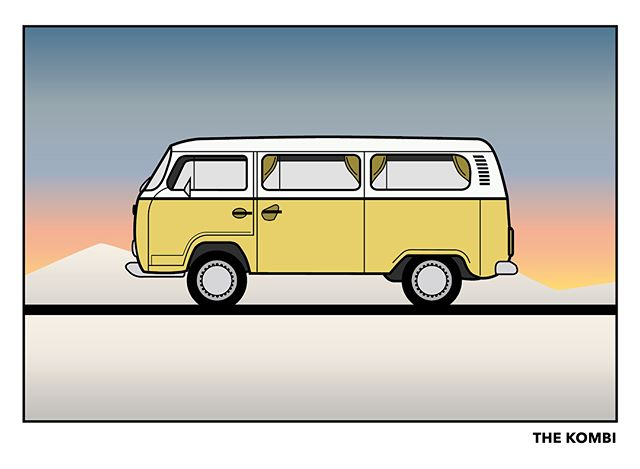 🚐🌅🚦🛣 #volkswagen #van #vw #vwvan #adventurebus #illustration #forfun #graphicdesign #design