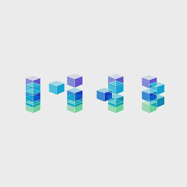 Just some floating cubes // #illustration #cubes #floating #design #graphicdesign
