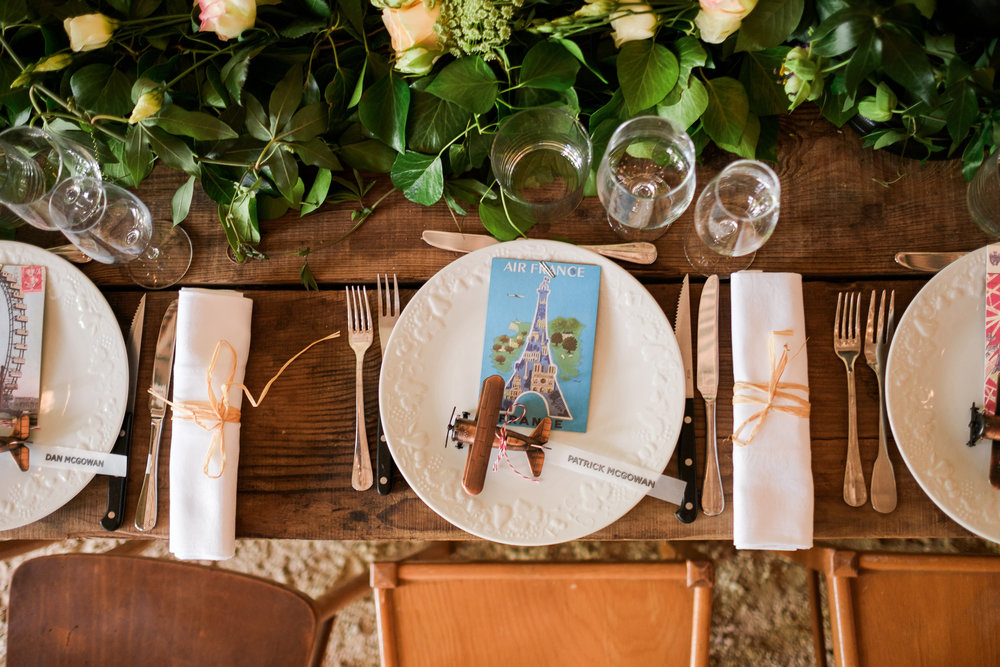 Photo by Jakob Granqvist  Nordica Photography     Menu and placecard styled by Bunny en Blanc, table set up by St. Victor la Grand Maison.