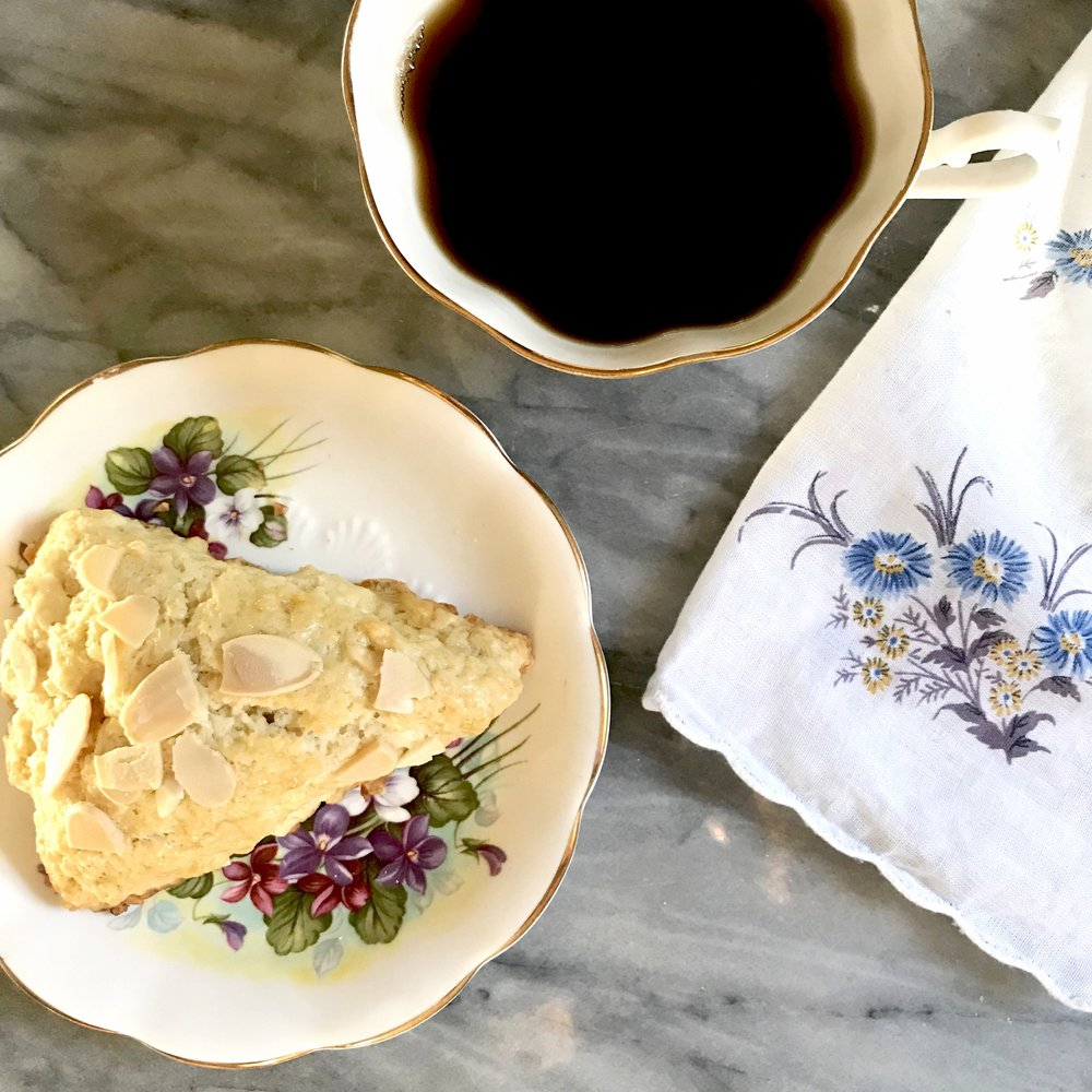 these scones are as easy to make as they are delicious. - cinnamon almond scones
