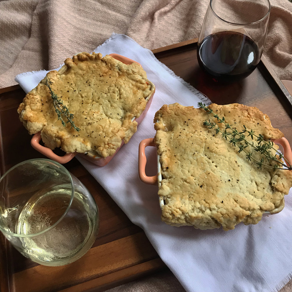 - date lunch: individual pot pies
