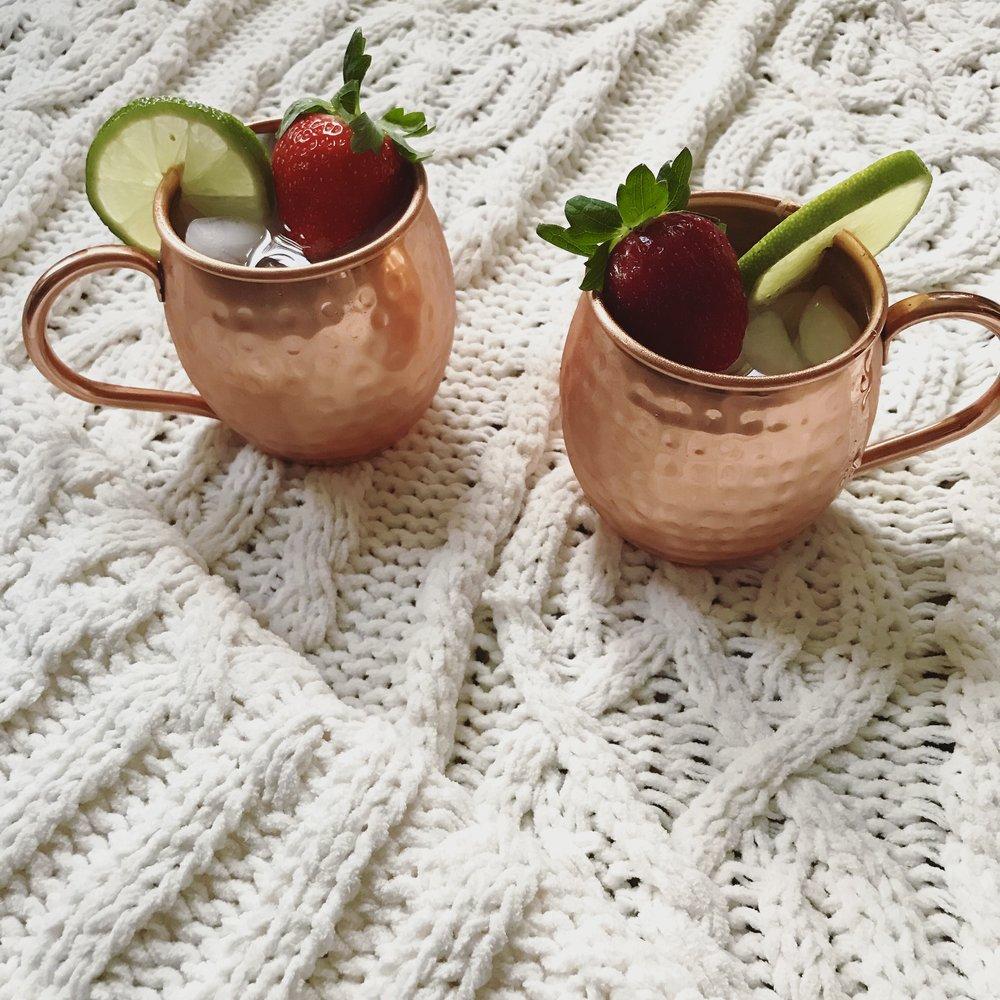 a twist on the classic cocktail - manhttan mules