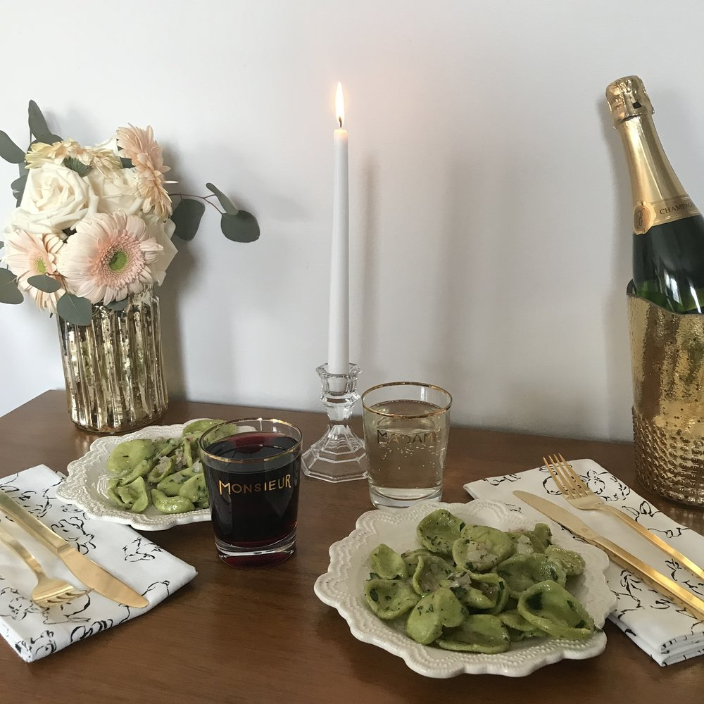 homemade orecchiette to share with your significant other (or anyone you love) - date night orecchiette