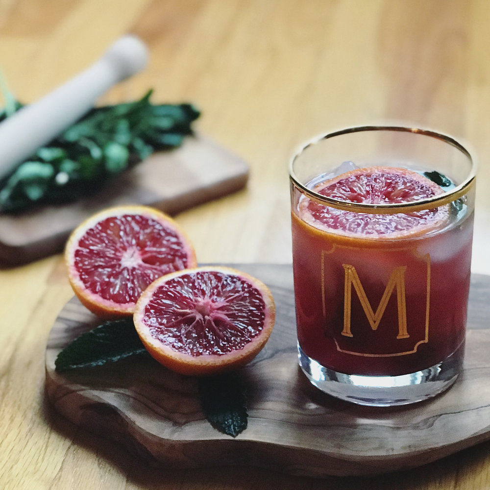 a bubbly blood orange cocktail to brighten up a gloomy winter day - blood orange mint juleps