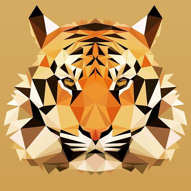Tiger - #graphicdesign #lowpoly #vector #tiger