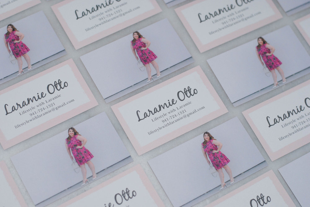 Custom made business cards with basic invite lifestyle with laramie made business cards for my blog and love the result its super easy and they have tons of options for every element of the business card colourmoves