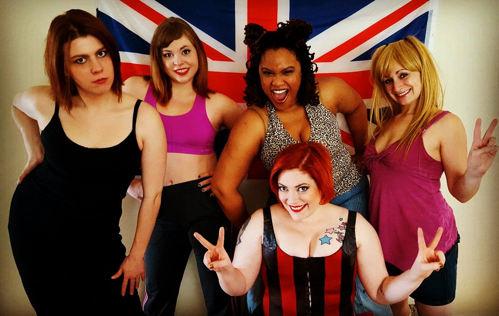 From left: Emma Palizza as Posh, Jean E. Burr as Sporty, Song Marshall as Scary, Caitlin Jackson as Ginger and Carrie Campana as Baby
