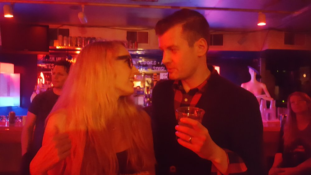 Jaclyn Jensen and Mike Wozniak at the Ghostlight Launch Party in 2016.