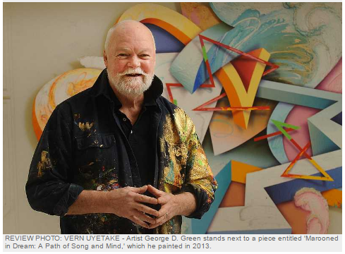 MARCH 3 – 31   Visual Magic - Robust Exuberance to Contemplative Revelation, 1982-2016   The work of George D. Green, renowned abstract illusionist artist will be in Lake Oswego for the month of March at 510 Museum & ARTspace. Green is a fifth generation Oregonian and a founding member of Abstract Illusionists.  He has had 160 national and international exhibitions and his work is represented in 71 museums.  After a 30-year tenure in NYC, George is thrilled to have his work on display in Lake Oswego.  A First Friday opening will be held March 3 from 6 to 8 p.m.
