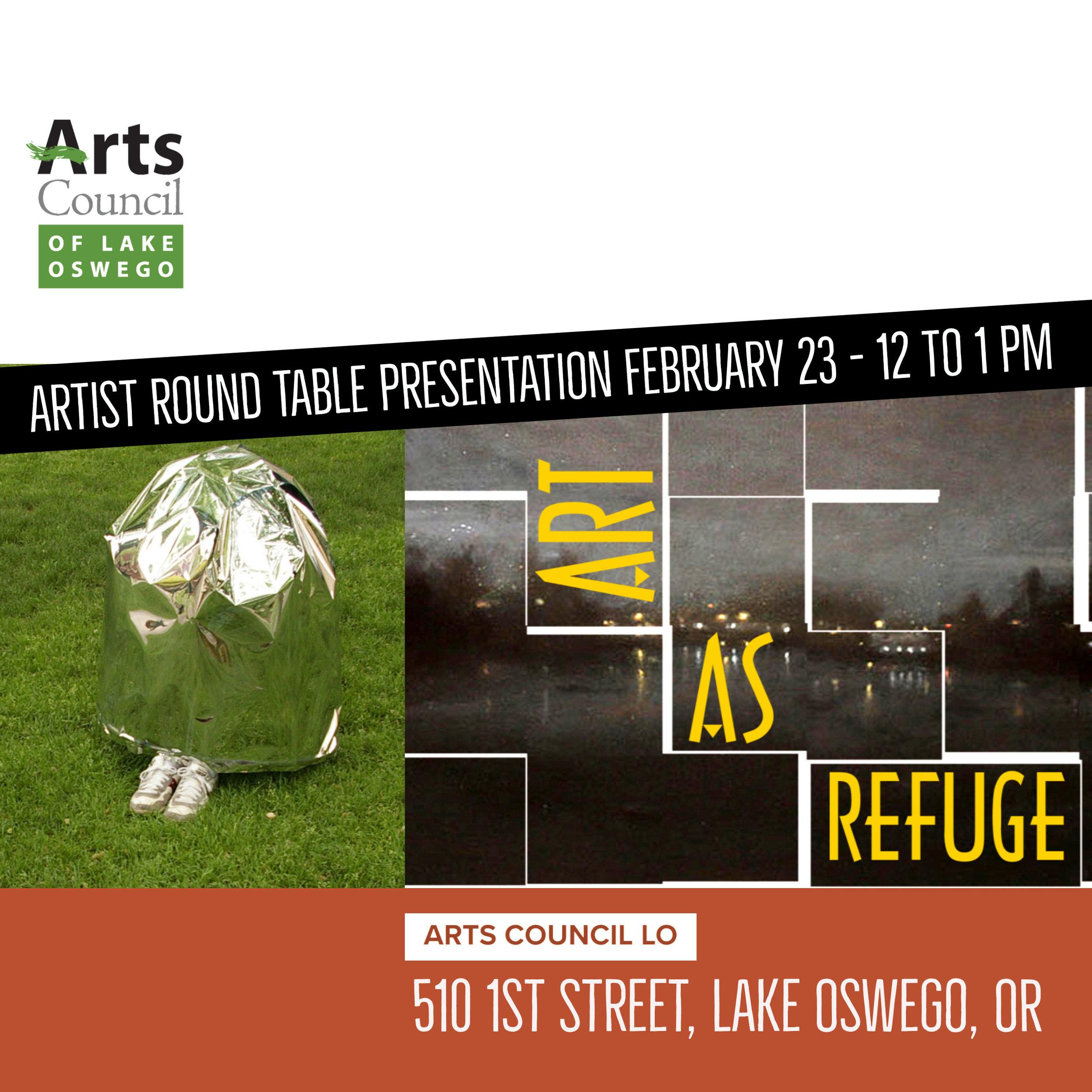 Art As Refuge Artist Round Table Presentation