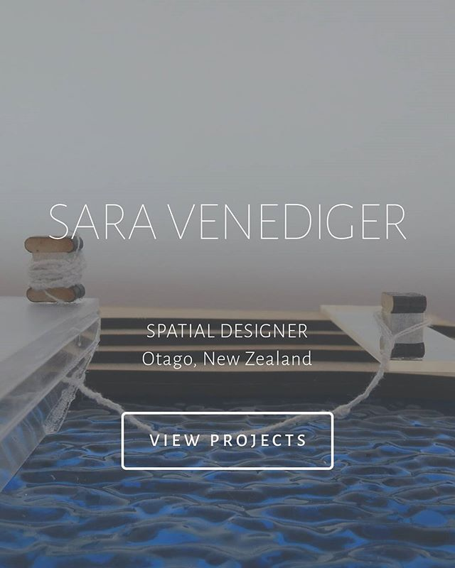 Checkout the new look saravenediger.com  #website #update #portfolio #interiordesign #spatialdesign #architecture #interiors #design #glass #model #dunedin #newzealand