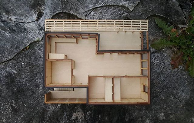 A new photo of an old model for the Climate Safe House Project.  #architecture #spatialdesign #model #lazercut #scalemodel #interiordesign #design #suistainable #plywood #climatesafehouse #dunedin #newzealand #nz #designfordisassembly