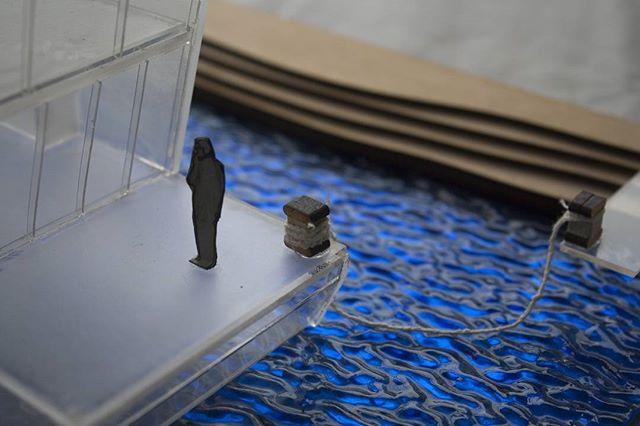 Lazer cut scale model of #schwimmhausboot  #interiordesign #spatialdesign #model #3dmodel #design #kokomo #glass #scalemodel #architecture  #architecturalmodel #boat #designer #newzealand