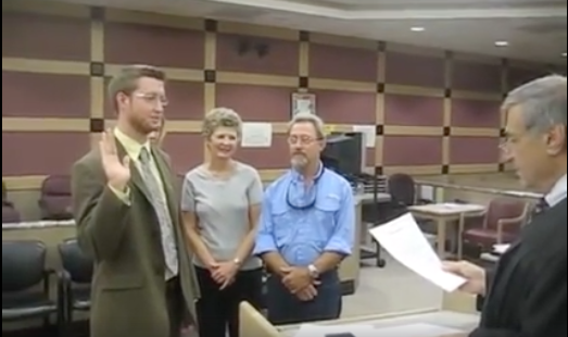 Me taking my Oath of Attorney - three years later I would be DONE with this career!