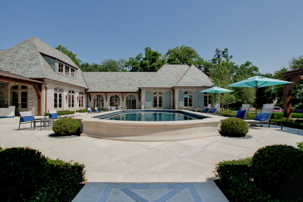 home pool and patio
