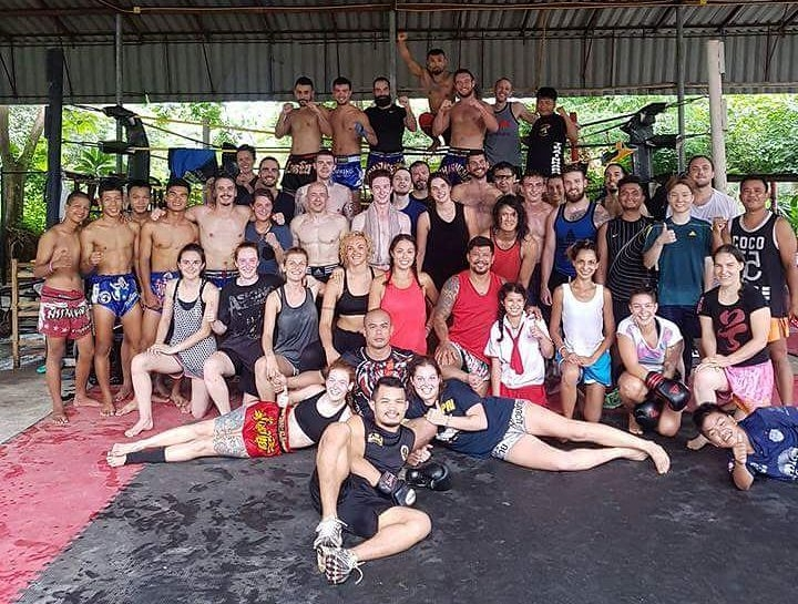 Charn Chai gym in Pai. Big group!!!