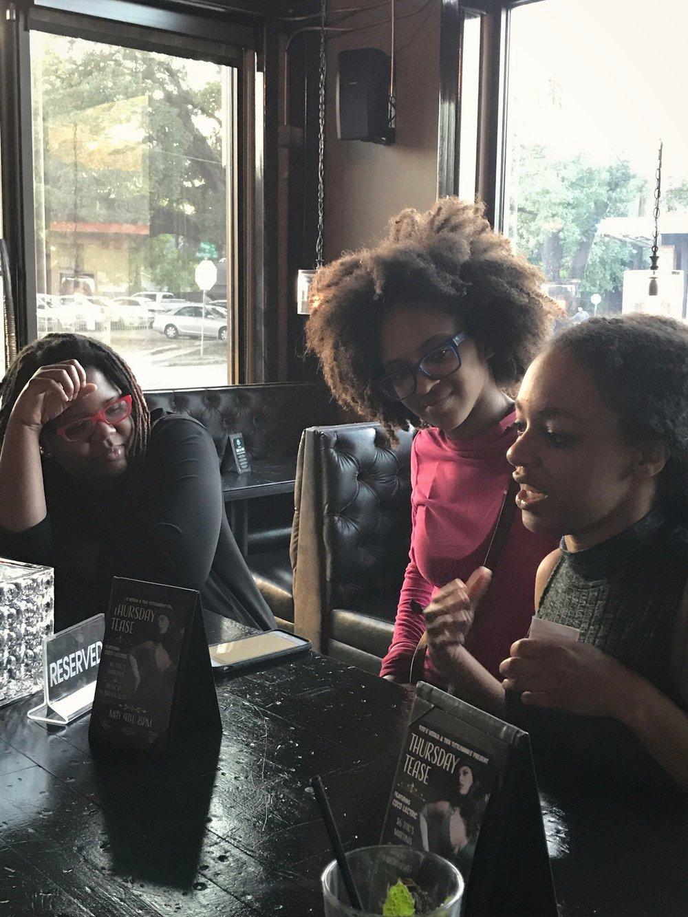 black-woman-afro-talking