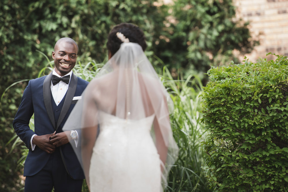 african-american-groom-bride-wedding-first-look
