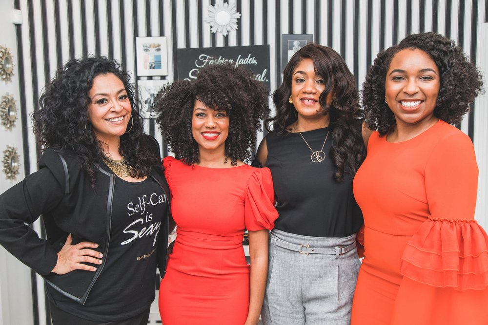 From Left to Right: Eliza Boquin, Joy Hutton, Ebele Iloanya, and Christa Clarke