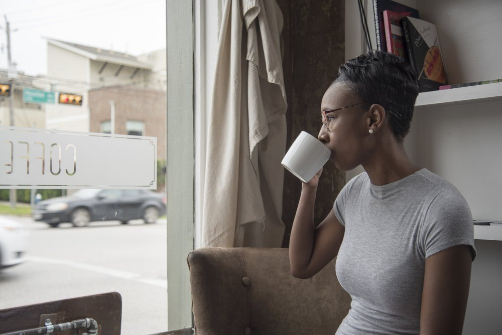 black-woman-drinking-coffee-cup