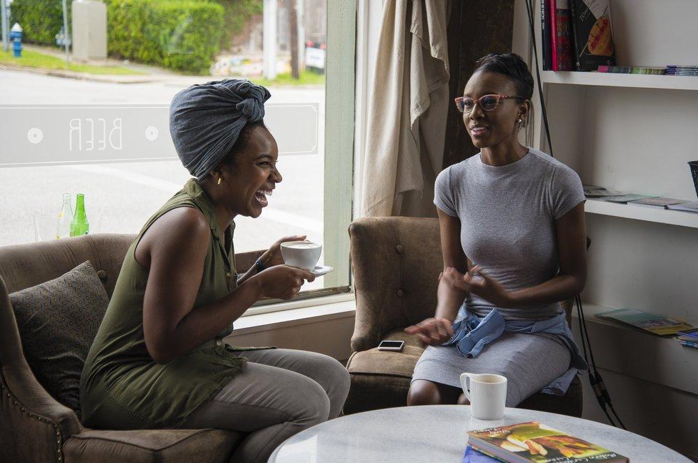 black-women-laughing-coffee-house