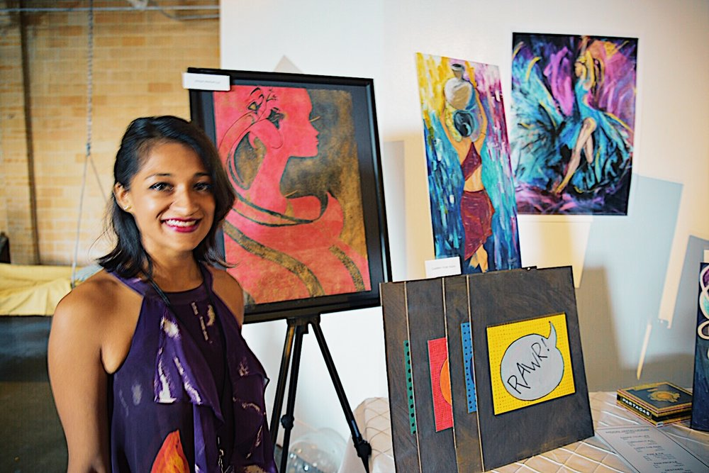 Moon Jamaluddin was not only a panelist, but debut her artwork as a vendor at the event.