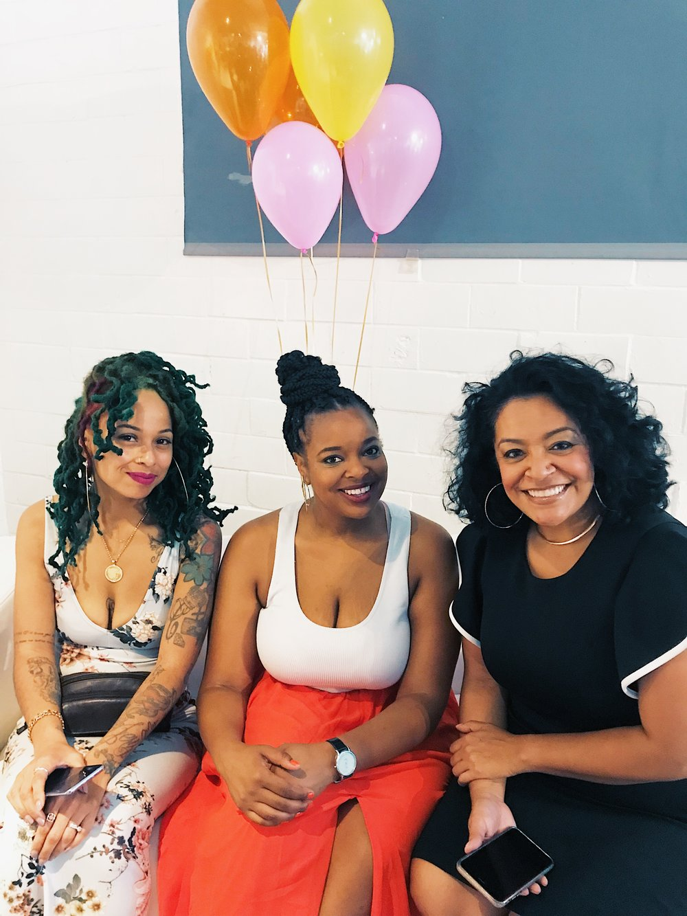 (From left to right) Celeste, Eboni Harris, Eliza Boquin