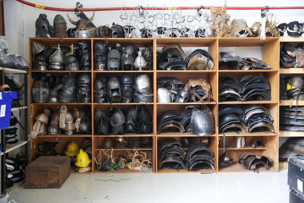 The helmets and shields section