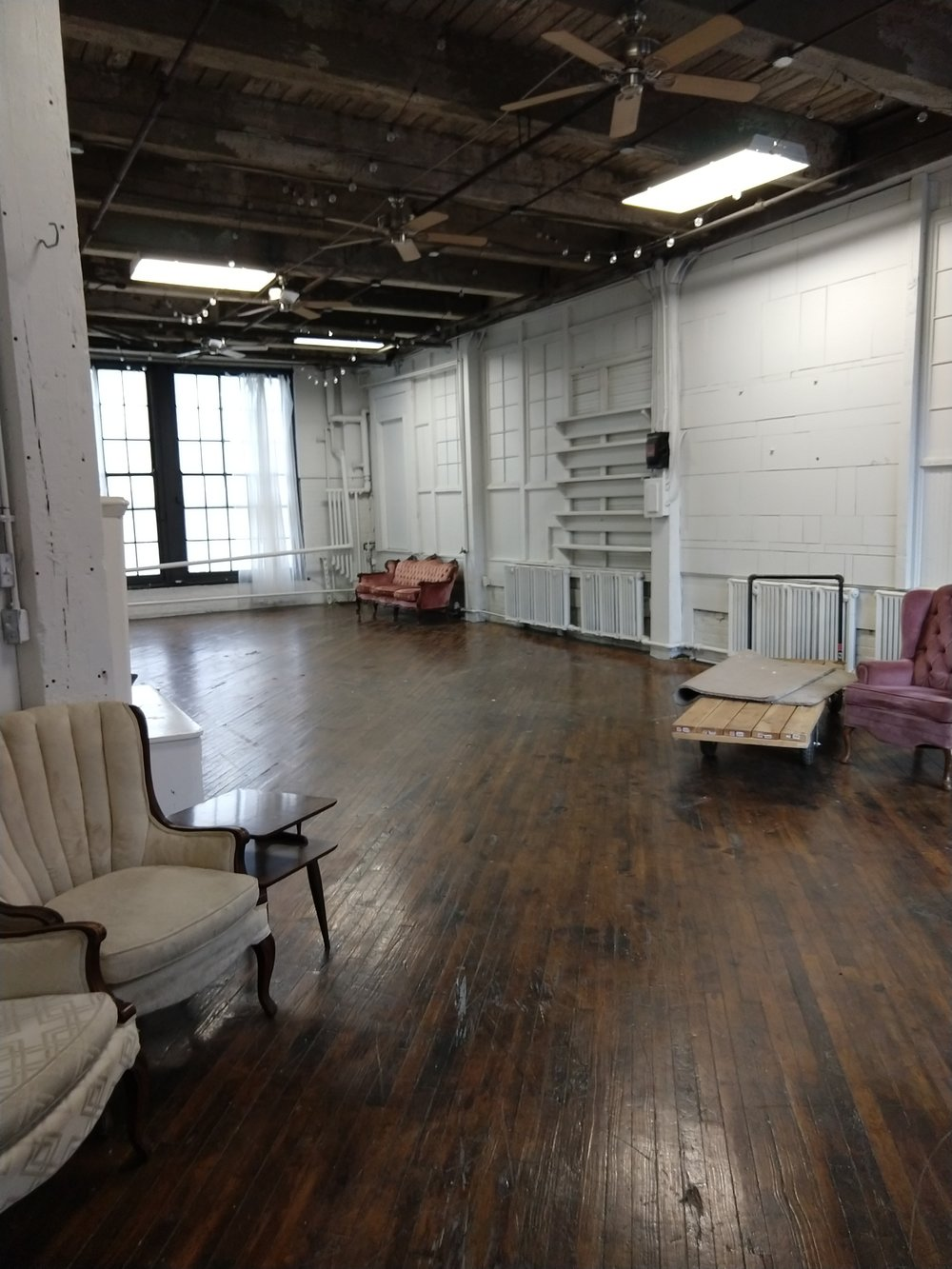 The future studio! Alas, it does not come with the furniture…