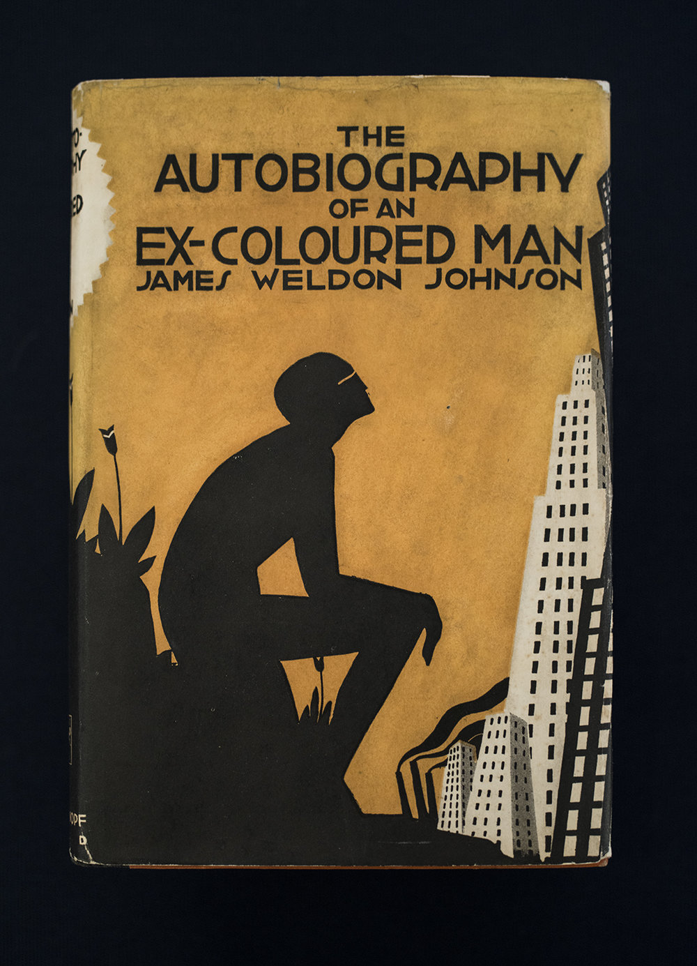 The Autobiography of an Ex-Colored Man, 1927, Published by Sherman, French, and Company. James Weldon Johnson (American, b. 1871 - 1938). Dust Jacket: Aaron Douglas (American, b. 1899 - 1979).