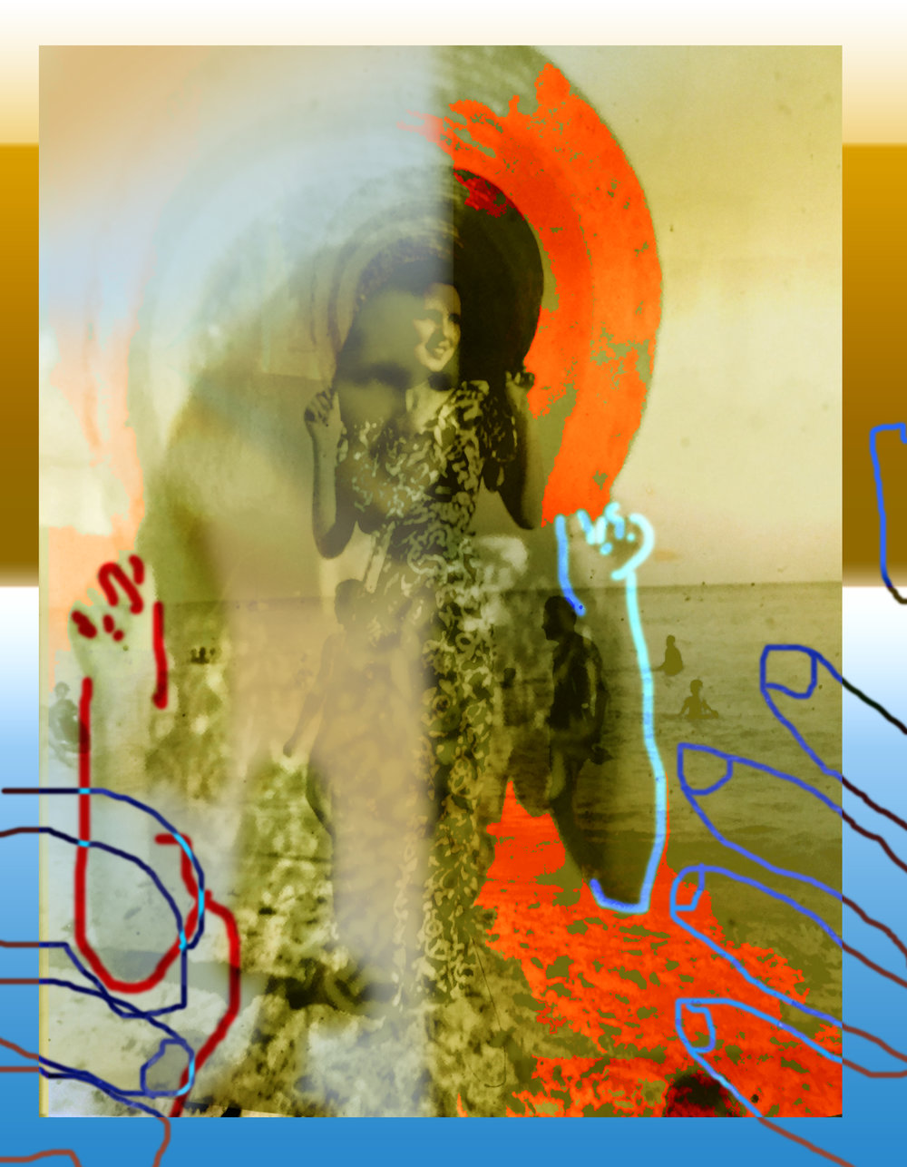 """In Havana, Carmen Dreams Of Her Life In Love,"" 2017, digital photocollage, dimensions variable.  www.gabycollinsfernandez.com"