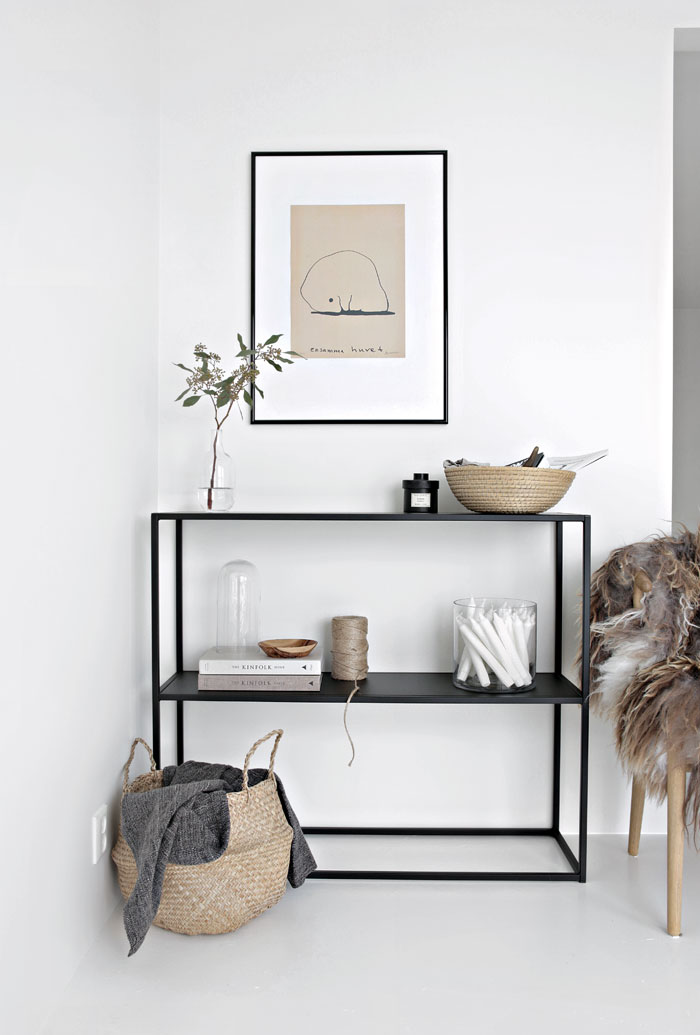 i love how simple this is. it's clean, inviting and functional. i love the idea of table styling with every day used items.