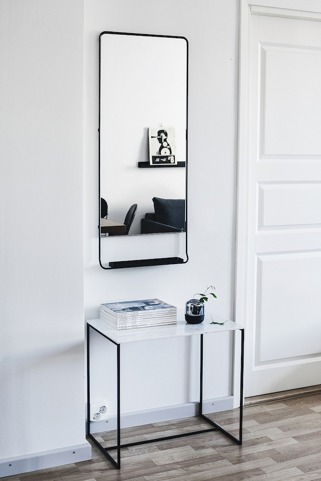 although this is beautiful, i know having a piece like this in our entry way wouldn't make the cut for it's size and not being all that functional for our space, however, i'm loving the lines and colours that are inspiring me for our refresh.