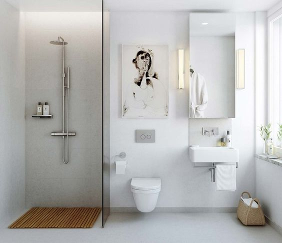 i of course love this washroom design, but my favourite part is the art work. doesn't it just add warmth and personality to the smallest of spaces?