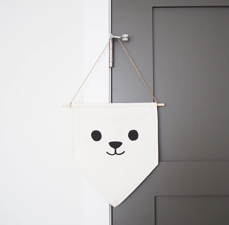 canvas banner from one of nest in the city's vendor's,  little lamb & co