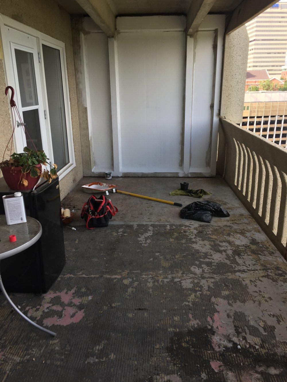 balcony revamp   dale + peonies