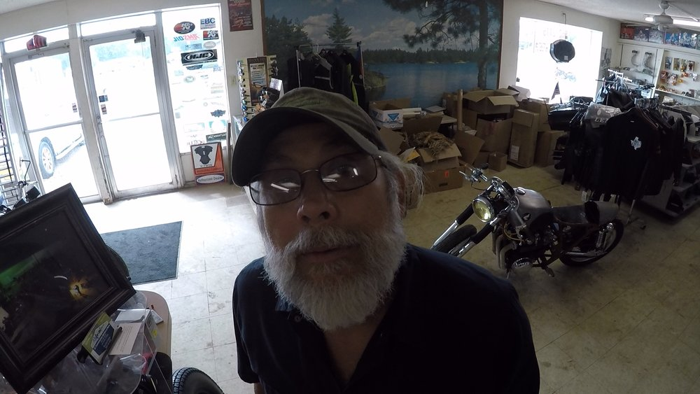 Thats Stacy. Billy's right hand man at the shop!
