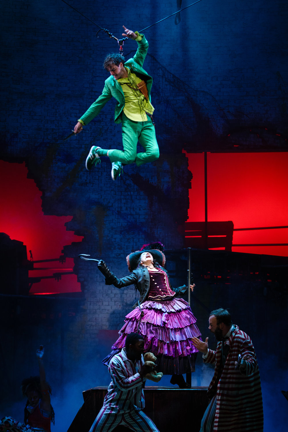 18. Paul Hilton as Peter and Anna Francolini as Captain Hook. Photo by Steve Tanner..jpg