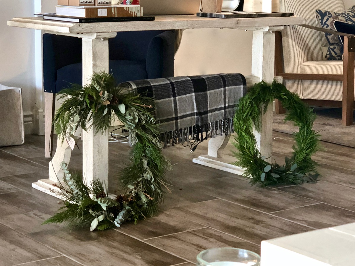 Sneak preview of two styles we will have available Black Friday weekend!  Wreaths are dipped for long-lasting color and freshness.  These should keep their beauty long into the winter months.