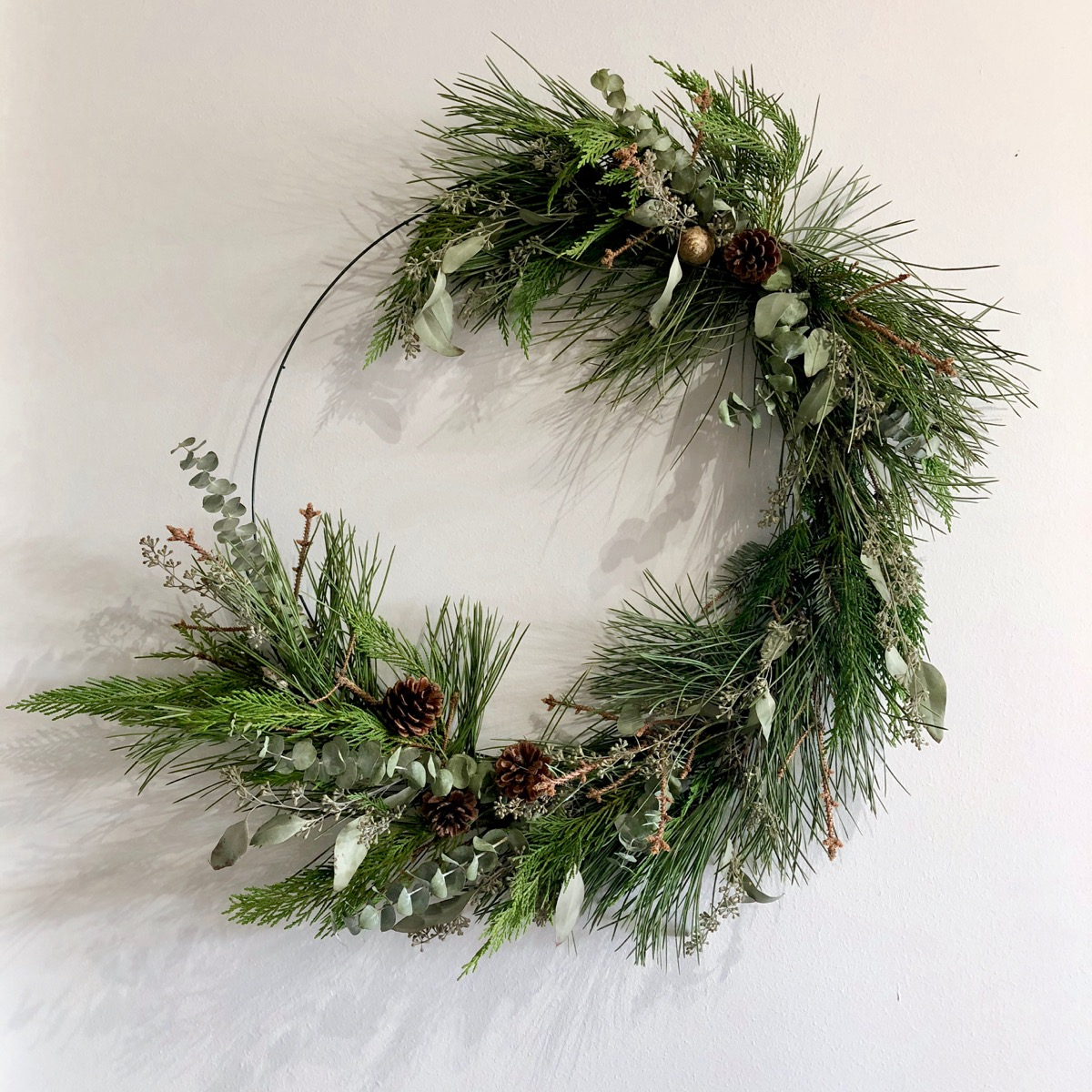 "24"" Fresh Winter Mix Wreath {$75.00}"