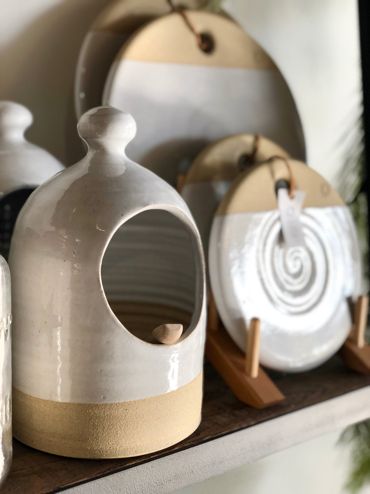 Oversized Salt Cellar and Signature Cheese Stones by Farmhouse Pottery {From $68.00}