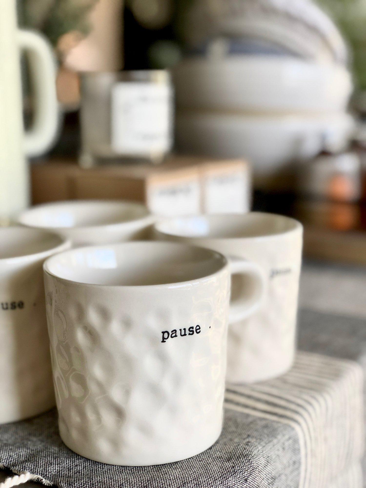 """Pause"" Mug {$12.00}"