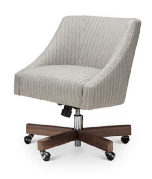 "For a firmer seat -- we recommend the Melvin office chair by Verellen.  Select the base, wood finish, fabric, and seam details for a truly one-of-a-kind piece.  Feel the comfort and see the quality for yourself in our Countryside Village shop.  Adjustable seat height for your personal preference.  Options starting at $2040.00.  • Overall Height: 35.5""H/31""L • Overall Width: 22.5"" • Exterior Depth: 26"" • Seat Height: 23.5""H/19""L • Seat Depth: 19"" • Arm Height: 21.5""H/18""L"