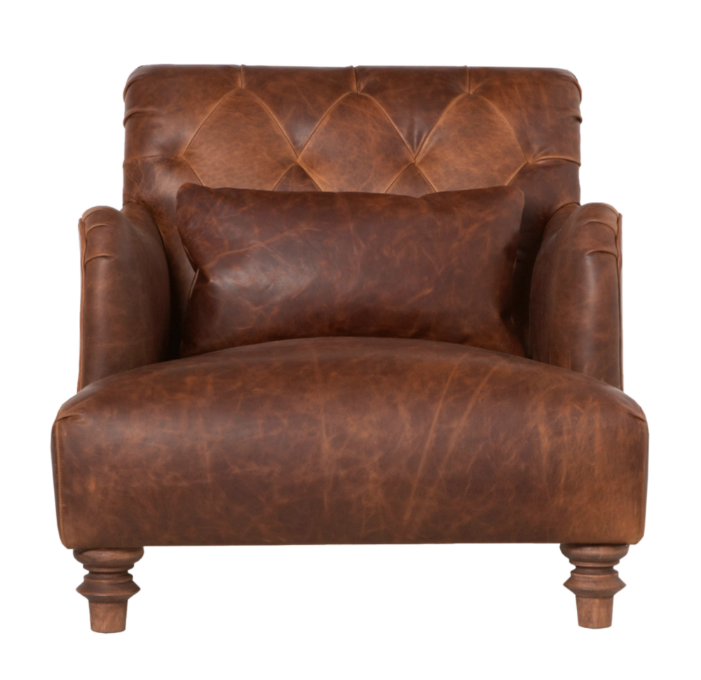 Acacia Leather Chair  sc 1 st  Amethyst Home & Acacia Leather Chair u2014 Amethyst Home