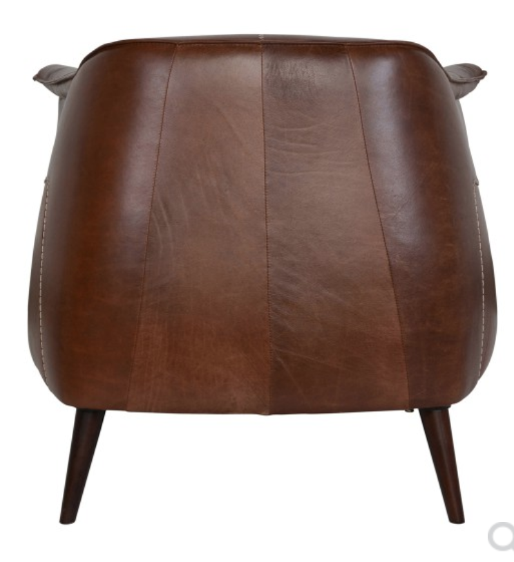 Bohemian Martel Leather Chair With Stitching