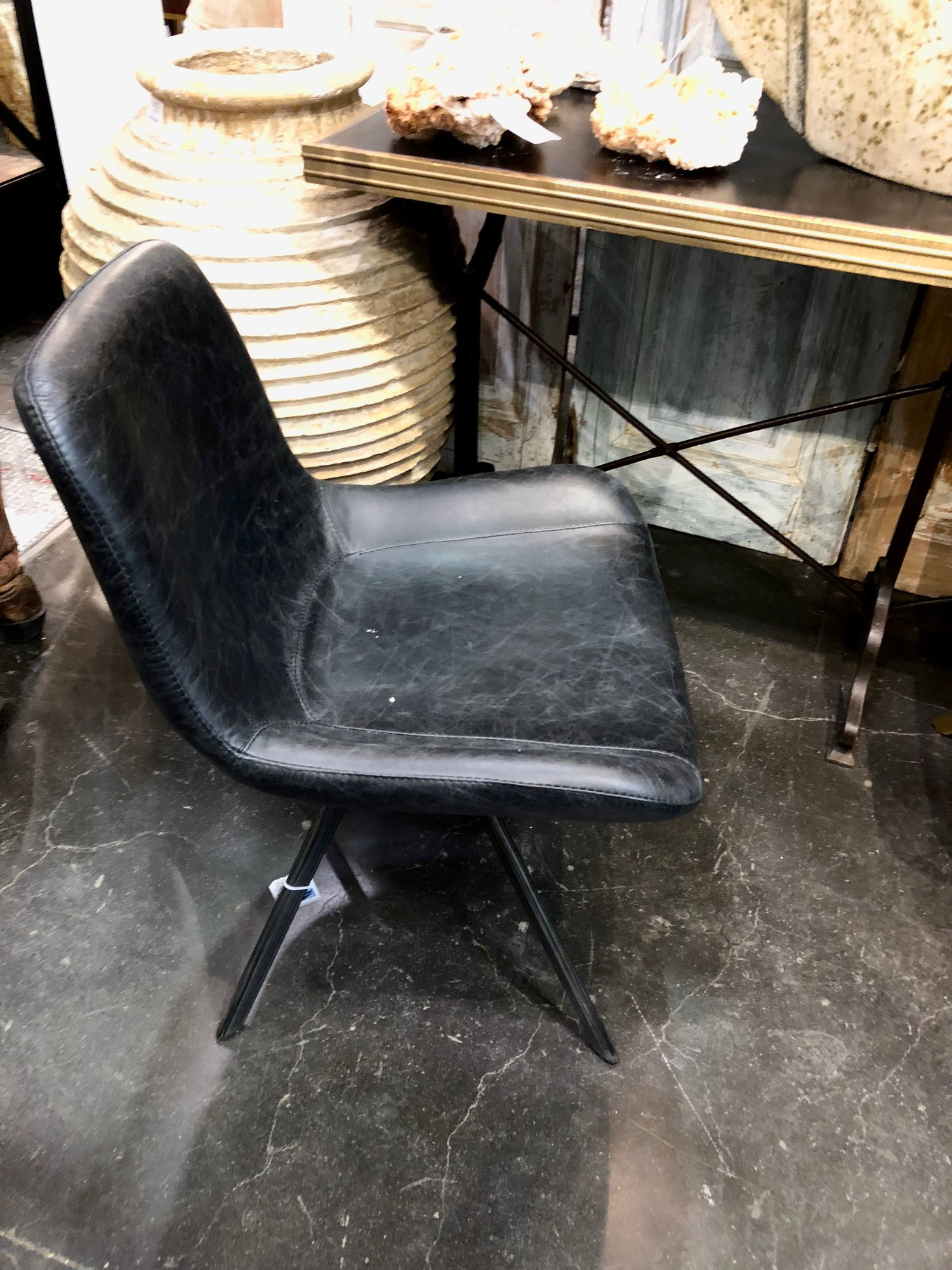 LOVE this leather chair for dining or desk seating.  Very comfortable!